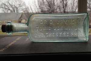 A small bottle from Philadelphia's own Dr. Jayne's patent medicine company.