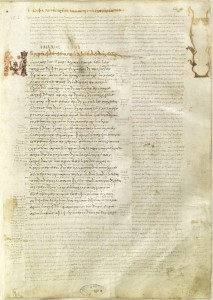 The first folio of Venatus A, from Center for Hellenic Studies.