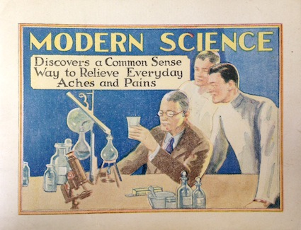 "Dr. Miles emphasizes the ""Modern Science"" in marketing their Alka-Seltzer."