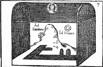 Cosmas's tabernacle-shaped cosmos, taken from the 19-c. edition printed by the Hakluyt Society.