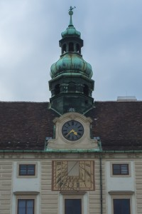 According to tour guides, Tycho Brahe designed this sundial on the Hofburg in Vienna.