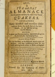 Title page for Winstanley's 1678 Yea and Nay satirical Quaker almanac.