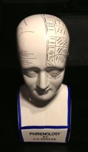 An L.N. Fowler Phrenology bust.