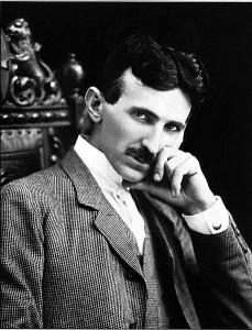 The iconic photograph of Nikola Tesla, the elegant, pensive genius.