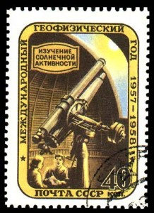 Soviet postage stamp from 1957 (from here).