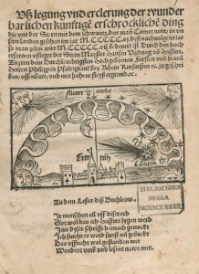 Johannes Virdung's Ußlegung and its comet.
