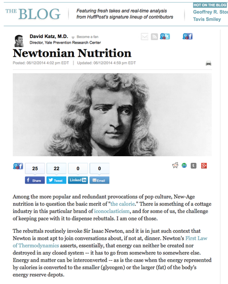 The Huffington Post added this nice image of Newton to its version of Katz's post.