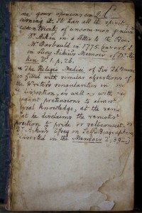 Biographical annotations on the front fly leaf, probably not by the same person whose name appears on the title page. (Source: Author's collection)