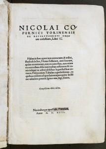 Title page of Copernicus's De Revolutionibus