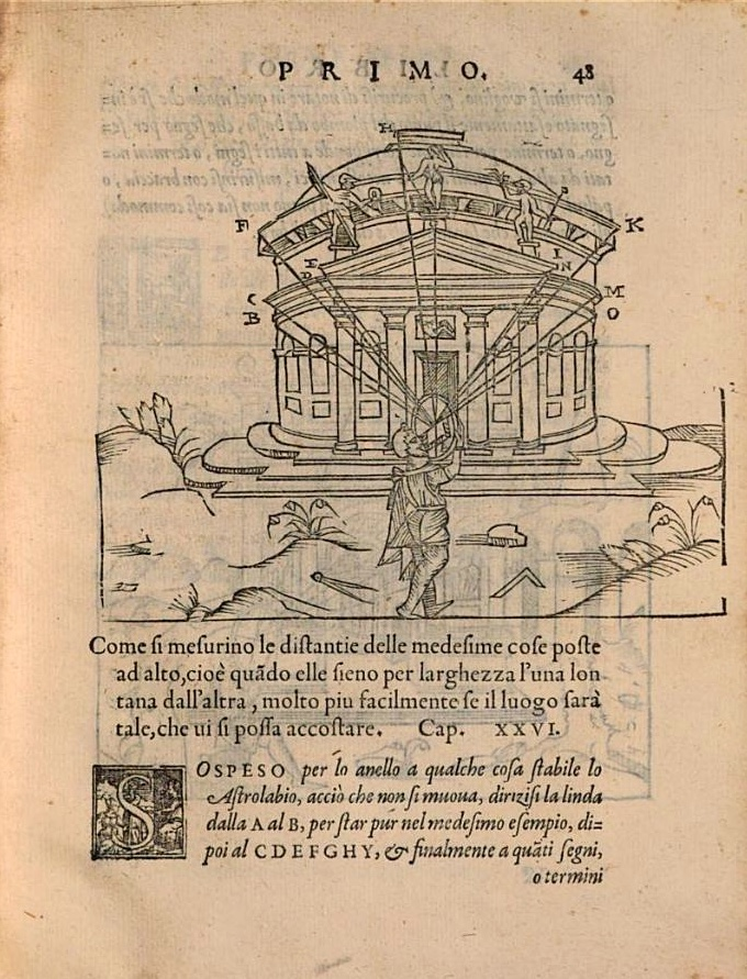 Surely few people used an astrolabe to make the many observations Cosimo Bartoli cataloged in his Del modo di misurare (1564). Google has scanned it here.