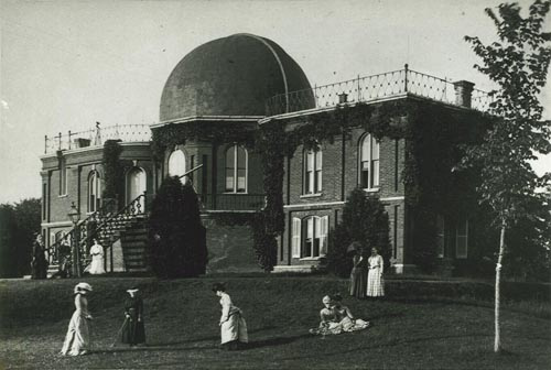 The first building completed at Vassar College was the observatory, long called the Maria Mitchell Observatory. Read more about it here, which is where I got the image.