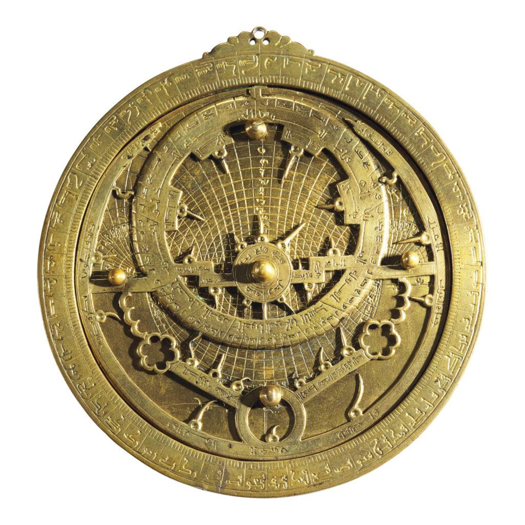 Screenshot of the 14th-century astrolabe by Ahmad ibn Abu 'Abdallah al-Qurtubi al-Yamani on auction at Sotheby's.